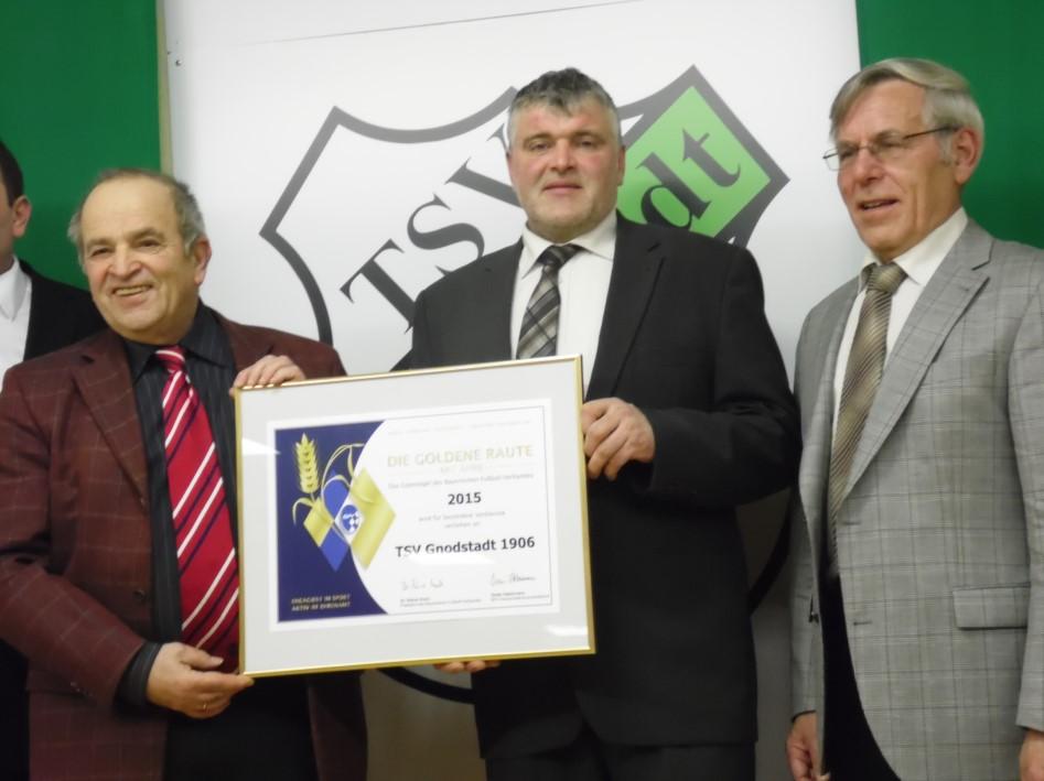 TSV Gnodstadt - Verleihung Goldene Raute